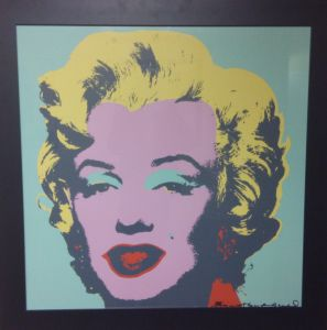 Marilyn Monroe in colour painted by Andy Warhol
