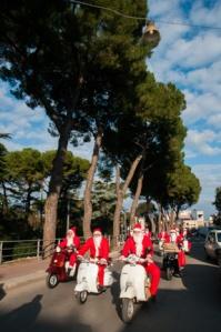 Father Christmas on Vespa