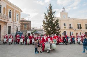 Father Christmas in the Piazza in San Vito Dei Normanni