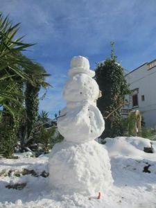 Snowman in Salento