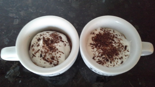 Ricotta, Chocolate and Cream Pots