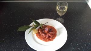 Polipo al sugo: Octopus in a tomato sauce