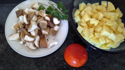 Ingredients for Cardoncelli and potatoes