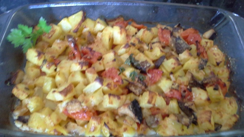 Cardoncelli mushrooms and potatoes