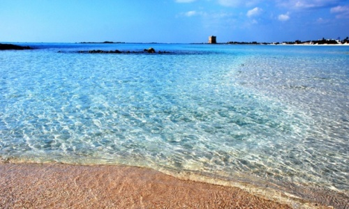 Turquoise waters of Torre Lapillo Bay, Puglia