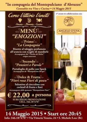 Wine and Food Pairing, San Michele Salentino
