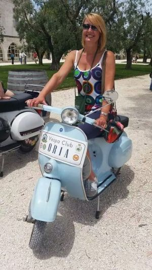My new baby blue Vespa!