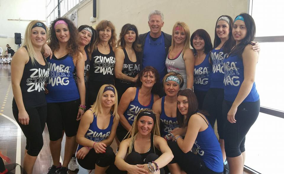 Zumba Team and 'offical photographer' Richard Watkins!