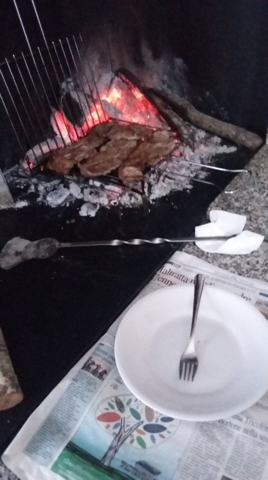 Cooking like a local: Grilled meats on an open fire