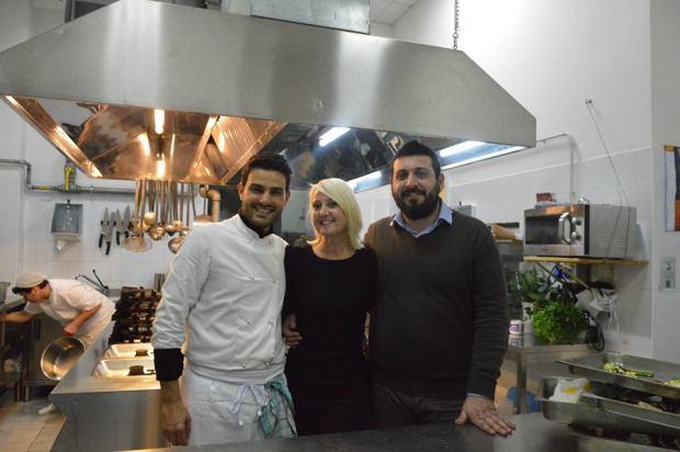 Head Chef Alberto Cambiasi, Valerie Rice and Emilio Geri from Todo Modo MultiSolution Travel