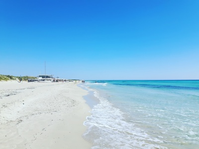 Beautiful beach along the Ionian Coast, Puglia