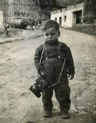 Alfredo Passante with his camera aged 2