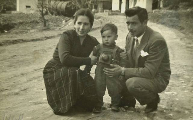 Alfredo Passante age 2 with his Mother and Father in Sicily