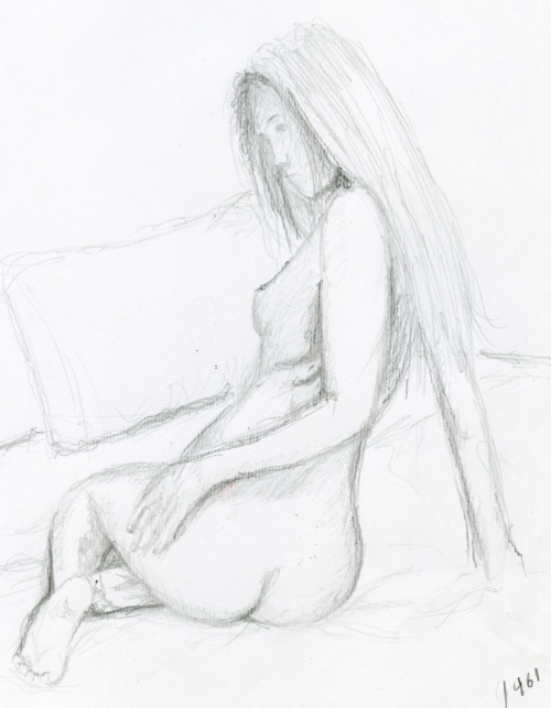 Alfredo Passante's first nude drawing which he did at the age of 9