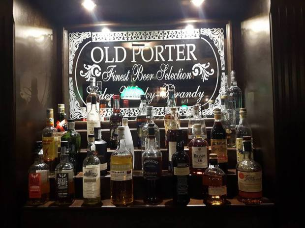 Whiskey Selection at the Old Porter