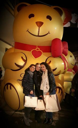 The girls at Lindt Chocolate Festival, Mesagne