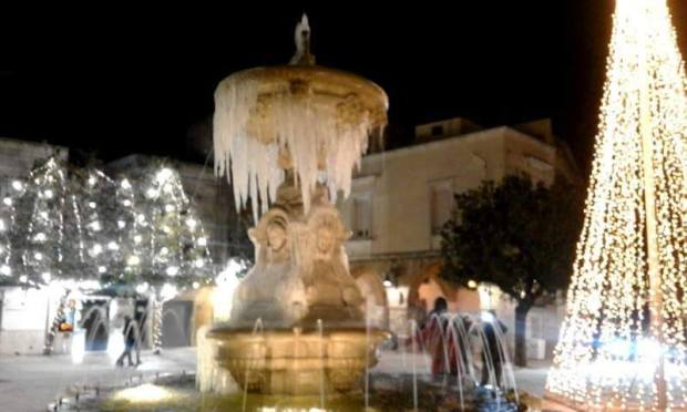 Icicles on the Fountain: Francavilla Fontana