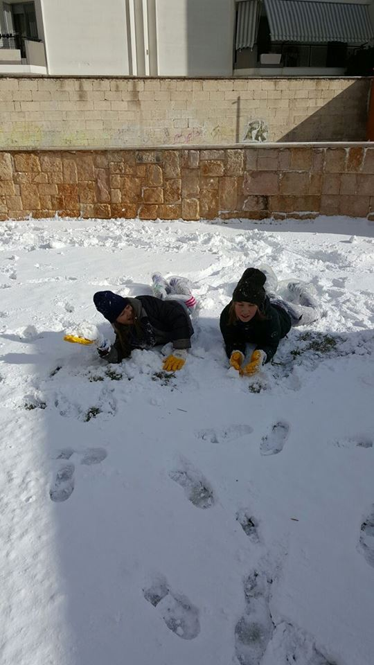 Kids having fun in the snow!