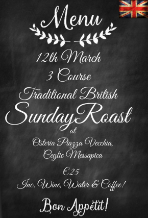 Traditional British Sunday Roast in Puglia!!!