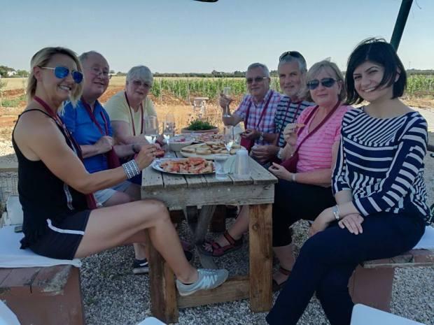 Sparkling wine focaccia and bruschetta