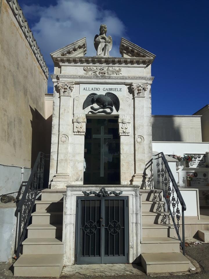 Maria's family mausoleum in the Cemetery at San Vito Dei Normanni