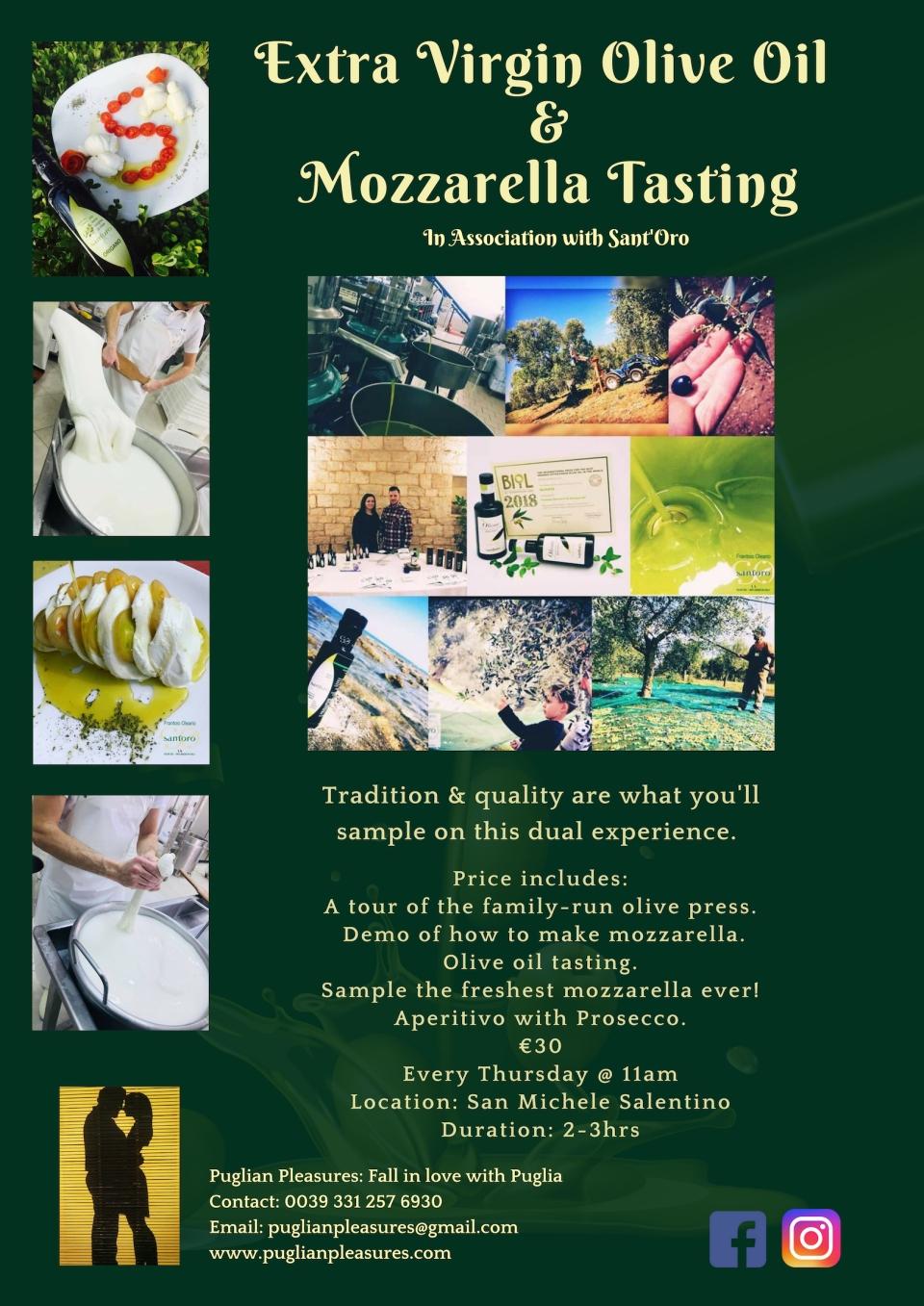 Olive Oil & Mozzarella Tasting | Puglian Pleasures